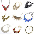 Hot Selling Retro Mixed Style Party Jewelry Bib Chunky Statement Necklace Choker