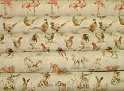 2015 Designer Vintage Linen Look Animal Print Designs Curtain Upholstery Fabric