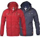 Mens Threadbare Hooded Jacket Coat Hackman Fashion Casual 7 Pockets