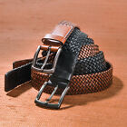 TRAFALGAR ETHAN  LEATHER BRAIDED DRESS  BELT - $125 VALUE - 2 COLORS AVAILABLE