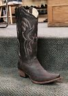 Womens Circle G Boots Corral Western Embroidered  Distressed Brown L5087