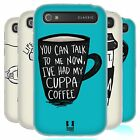 HEAD CASE COFFEE FIX SILICONE GEL CASE FOR BLACKBERRY CLASSIC Q20
