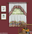 Country Market Complete Kitchen Curtain Tier & Swag Set - Assorted Sizes