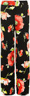 Womens Floral Flower Print Wide Leg Flared Palazzo Trousers Ladies Pants 8-14