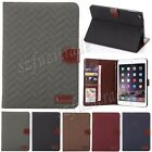 Grid Design Smart Flip PU Leather Wallet Case Cover Skin Stand For iPad Mini 3