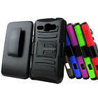 For Alcatel One Touch Snap LTE 7030Y R Rugged Hybrid Hard Case Belt Clip Holster