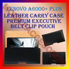 BELT CASE for LENOVO A6000+ PLUS MOBILE LEATHER POUCH COVER CLIP HOLDER PREMIUM
