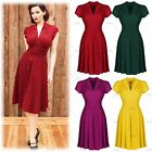 Womens Pinup A Line Short Prom Cocktail Evening Party Summer Skater Tea Dresses