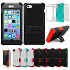 For Apple iPhone 5C Tri Shield Rugged Hybrid Defender Hard Case Cover w/Screen