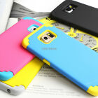 For Samsung Galaxy S6 Shockproof Armor Hybrid Rubber Matte Hard Case Cover