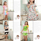 Lovely Cartoon Girls Sweet Polka Dot Sleepwear Pajamas Short Sleeve Sleepshirt