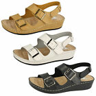 LADIES SYNTHETIC DOWN TO EARTH SANDALS 3X COLOURS F10452
