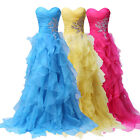 Sexy Quinceanera Organza Long Prom Wedding Ball Gown Pageant Bridesmaid Dresses