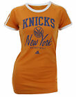 Adidas NBA Women's New York Knicks Short Sleeve Raglan T-Shirt - Orange