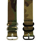 PREMIUM 3 RING SS PVD HEAVY NATO Ballistic Nylon Military Watch Strap Band