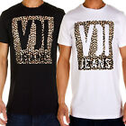 Voi Jeans Safari Print Mens T Shirt Crew Neck Tee Summer Casual Animal Print Top