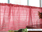 Country Style French Provincial Home Kitchen Blue/Red Gingham Cafe Curtain
