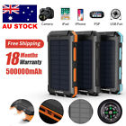 300000mAh Portable Solar Panel Dual USB External Battery Power Bank Pack Charger