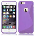 """iPhone 6 Plus 5.5"""" S-Line Silicone Gel Back Cover with Screen Protector"""
