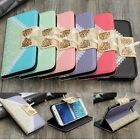 Lace Bow Flip Leather Card Wallet Case Cover Stand For Samsung Galaxy S6 G9200