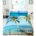 Summer Tropical Beach Blue Ocean Duvet Cover - 3D Effect Photo Print Bedding Set
