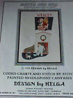 Needlepoint Cross Stitch Chart Santa & Boy Design by Helga 1988 12 Charted Pages