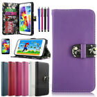 Luxury PU Leather Wallet Flip Cover Stand Case For Samsung Galaxy S5 S V i9600