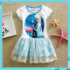 FROZEN Princess Elsa & Anna Birthday School Party Dresses Outfit AGE 3-4-5-6-7-8
