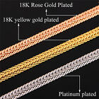 """Cool Foxtail Chain Necklace 18K Gold Plated 6 mm Men Jewelry 18"""" 22"""" 26"""" Option"""