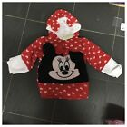 New Baby Girl Minnie mouse / Daisy warm lonsleeved fleece hooded jumper 3-18M