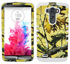 White Yellow Hunter Series Camo Shock Resistant Cover Case for LG Optimus G3