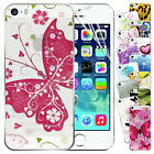 New Hard Back Printed Case Cover For APPLE iPhone 5 5S Free Screen Protector