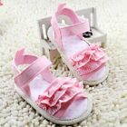 Toddler Baby girl pink sandals crib shoes size 0-6 6-12 12-18 Month