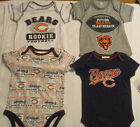NFL Team Apparel Chicago Bears 6-12 0-3 or 3-6 Month 1 Bodysuit Choice New