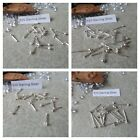 Box of Sterling Silver Nose Studs, Choose Design,22G,Straight Post or Ball Fix