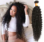 100g/Bundle Natural Black Curly Wave Remy Indian Hair Wefts Human Hair Extension
