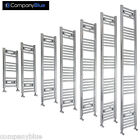 450mm Wide Chrome Heated Towel Rail Radiator Bathroom Ladder Flat or Curved