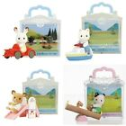 JAPAN EPOCH SYLVANIAN FAMILIES CARRY BAG - BOAT/ SEESAW/ SLIDE CAR W/ RABBIT
