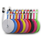 Flat Noodle USB Data Sync Cable For iPhone iPad iPod Nano Touch 5 Charger Lead
