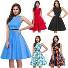 Vintage Style Rockabilly Housewife 1950's Swing Picnic Pinup Prom Party Dresses