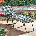 Alfresia Garden Sun Lounger with Luxury Cushion (Green Frame)