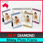 New 1x Diamond Shiny Silver Square Pearl Crystal Photo Frame Home Decoration