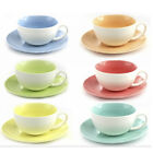 CUP WITH SAUCER MUG COFFEE TEA MUGS PLATE HOME OFFICE FINE CHINA PASTEL TIME NEW