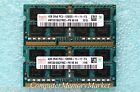 8GB   2x 4GB PC3-12800S DDR3 1600 Laptop Memory By HYNIX # HMT351S6CFR8C-PB