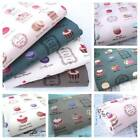 ALL OVER FRENCH PATISSERIE MACAROON LINEN LOOK / COTTON FABRIC MACARON script