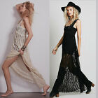 Open Back Sheer Lace Women's Evening Prom Party Club Maxi Long Dress Bridesmaids