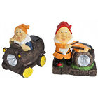 GARDEN GNOME SOLAR LIGHT LED LAMP ORNAMENT STATUE POWERED PATIO OUTDOOR LIGHTS