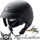 SCORPION EXO 100 MATT BLACK OPEN FACE MOTORCYCLE SCOOTER CRUISER HELMET