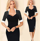 SEXY Celeb Women Business Wear Bodycon Slim Cocktail Evening Party Pencil Dress