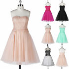 Strapless Graduation Short Prom Wedding Ball Gown Evening Bridesmaid Party Dress